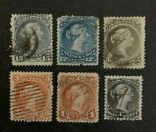 Canada Stamps Large Queens Used