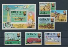 LL93197 Liberia trains airplanes transport fine lot MNH