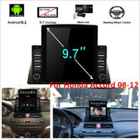For Honda Accord 08-12 9.7'' 1+16GB 4-Core Car Stereo Radio Android 9.1 GPS Nav
