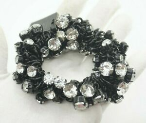 J.Crew Crystal Cluster Black Stretch Bracelet **Gorgeous** :D