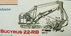 Bucyrus Erie 22RB Backhoe/Dragshovel Kit 1/76 Scale By Langley Models