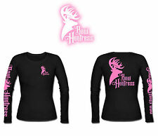 Bow Huntress Women's Long sleeve Logo t shirt deer hunting logo hunter hunting