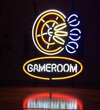 "Gameroom Dart Real Neon Sign Display Store Beer Bar Pub Light Sign17""X14"""