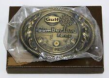 Gulf Oil Cumberland Farms 9 Year Big Rig Safe Driver Belt Buckle w/Box