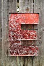 LARGE VINTAGE STYLE 3D RED E SHOP SIGN LETTER TIN WALL ART LETTER FONT