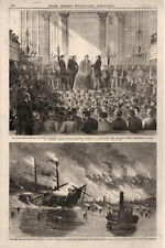 Installing President of College of New Jersey & Fire, Hunter's Point, L.I. -1868