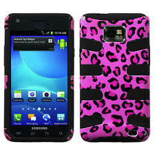 AT&T SAMSUNG GALAXY S2 II DUAL LAYER HARD COVER+SILICONE CASE LEOPARD