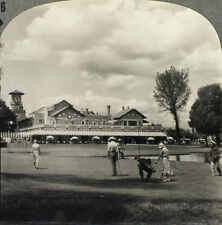 Keystone Stereoview Playing Golf at Mexico Country Club From RARE 1200 Card Set