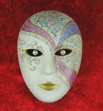 Original italienische Harlekin Maske aus Venedig - Handarbeit Handmalerei