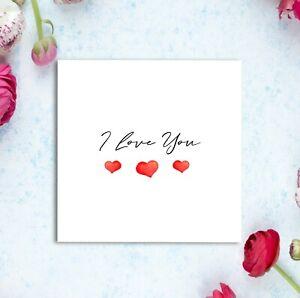 I Love You Valentine's Card - For Husband Wife Boyfriend Girlfriend Gay Lesbian