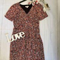 Monsoon Size 12 floral floral vintage look tea dress paisley knee length summer