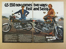 1978 Suzuki GS550 GS550E GS 550 550E Motorcycles photo vintage print Ad
