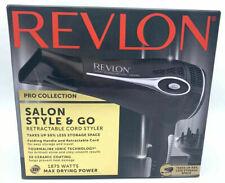 Revlon Pro Collection Hair Dryer Salon Style & Go Retractable Cord 1875 Watts