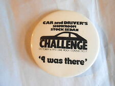 vintage 1972 car and driver stock sedan herausforderung lime rock ct souvenir pinback