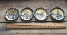 Antique Metal Copper ? Feudal Style Japan Geisha Women  Art, Trays , Coasters,