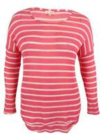 Maison Jules Women's Long Sleeve Striped Sweater Top