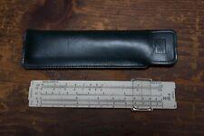 """K&E Keuffel & Esser Co. 4150-1 6"""" Pocket Slide Rule w/ Leather Case"""