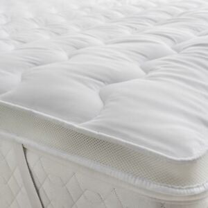 "Mattress Topper Microfiber Thickness 5cm 2"" Hollow Fibre Filling Mesh Air Flow"