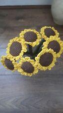 Handmade crochet Sunflowers, Sunflower bouquet, new, 7x sunflowers, flowers