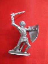 JEM Figurine moyen age 1/32 soldat avec épée et bouclier Norev Non peint