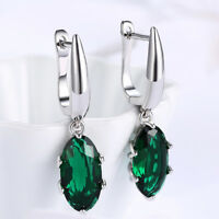 Round  EMERALD  Sterling  Silver  925  Gemstone  Earrings / STUDS  -  6 mm