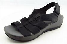 Clarks Size 7.5 M Black Gladiator Leather Women Sandal Shoes