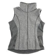 Kuhl Womens Gray Deep Pile Full Zip Sleeveless Hiking Camping Vest M