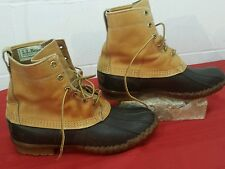 LL BEAN Boots Men's Duck Hunting Rain Size 10 Leather  BEAN BOOT MAINE VGUC