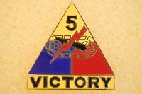 US USA Army 5th Armored Division Victory Military Hat Lapel Pin