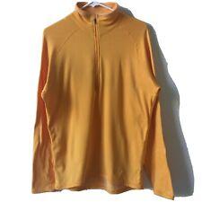 Men's Patagonia Light Orange 1/2 Half Zip Long Sleeve Pullover Shirt Top size M