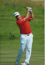Thomas LEVET SIGNED Autograph 12x8 Photo AFTAL GOLF Alstrom French Open Genuine