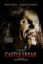 Castle Freak Blu-ray, Stuart Gordon, Jeffrey Combs & Barbara Crampton