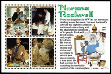#2840 50c NORMAN ROCKWELL MNH SHEET 4 STAMPS!