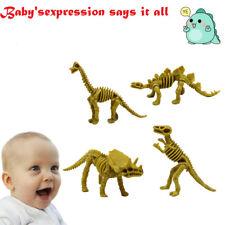 4Pcs Simulation Animal Dinosaur Tyrannosaurus Stegosaurus Skeleton Toy For Kid
