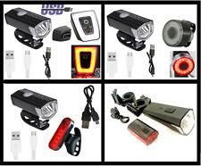 LED Beleuchtung Set Akku Beleuchtungsset Licht Scheinwerfer Rücklicht USB NEU