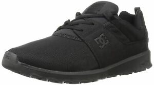 DC Heathrow Black Mens Mesh Trainers Shoes