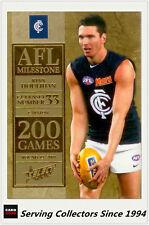 2012 Select AFL Champions Milestone Card MG11 Ryan Houlihan (Carlton)
