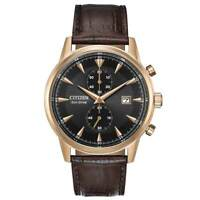 Citizen CA7003-06E Men's Corso Chronograph Brown Leather Strap Eco-Drive Watch