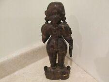 S38 antique carved wooden statue figure bali Indonesian teak hardwood asian art