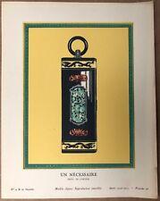 """Eqtampe Gazette du Bon Ton 4 """"Un Nécessaire"""" Bijoux Cartier Planche 26 1924/1925"""
