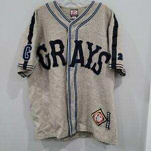 Rare VTG 1929 Homestead Grays Negro League Wool Throwback Jersey Mens XL