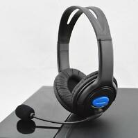 New Wired Chat Gaming Headset Earpiece For Sony PS4 W/VOL Superbass Black