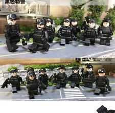 8pcs/set Military Special Forces Soldiers Bricks Figures Guns Weapons Lego Fit