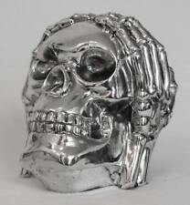 "Totenkopf silber ""nichts hören"" Skull Totenschädel"