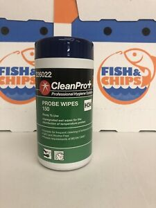 Clean Pro + probe wipes 150 H43 Cafe Takeaway Restaurant Fish Chips Kebab