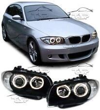 HEADLIGHTS DARK ANGEL EYES FOR BMW E81 E82 E87 E88 SERIES 1 NEW LAMPS FARI