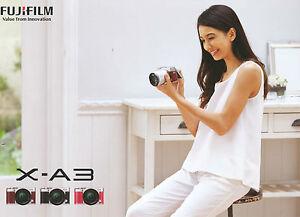 Prospekt Katalog Fuji Fujifilm X-A3 XA3 XA-3 3 Value From Innovation