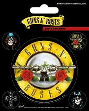 Guns N Roses Bullet Logo Vinyl Stickers Official Carded