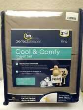 New Serta Cool And Comfy King Size Brown Sheet Set