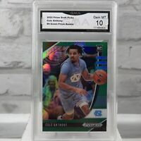 2020-21 Prizm Draft Picks Green Prizm COLE ANTHONY RC #9 ~ GMA Gem Mint 10